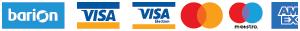 Weboldalunkon elfogadott bankkártyák